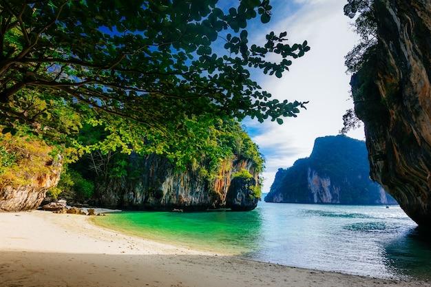 A, ilha, lao la, ding, ilha paraíso, krabi, tailandia