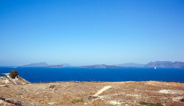 A, ilha santorini, vulcão, grécia
