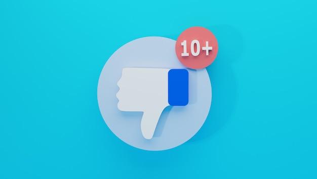 A ilustração do ícone não gosta de estilo plano minimalista isolado com notificação