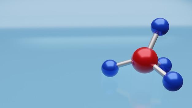 A imagem da molécula para renderização em 3d de conteúdo médico e científica