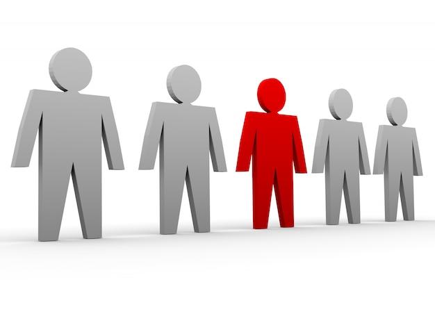 A individualidade se destaca da multidão