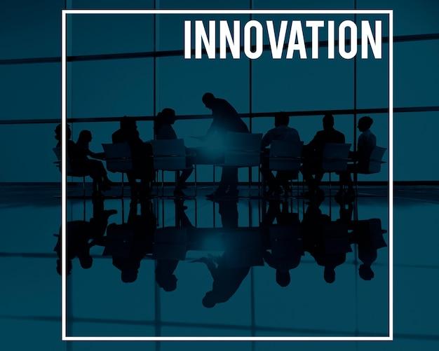 A inovação inova conceito futurista do desenvolvimento de tecnologia