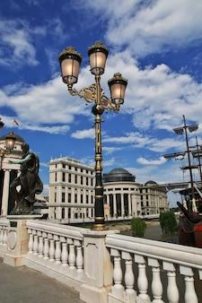 A lâmpada vintage em skopje, macedônia, balcãs