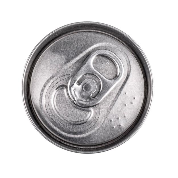 A lata de comida isolada, vista de cima