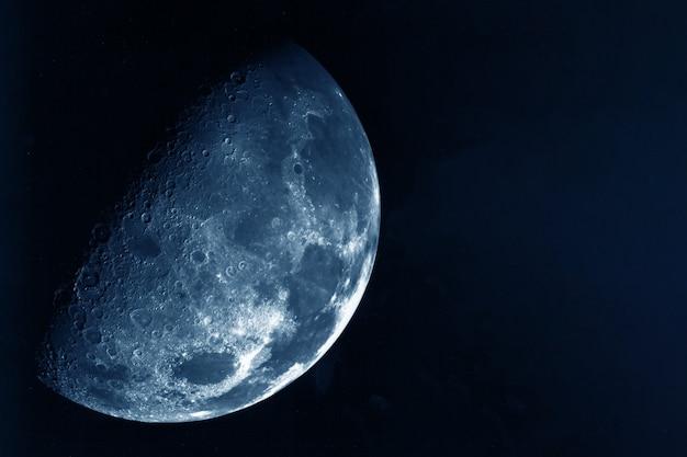A lua em alta qualidade em um fundo escuro os elementos desta imagem foram fornecidos pela nasa