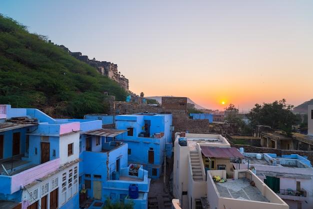 A, majestoso, cidade, palácio, ligado, lago pichola, curso, destino, em, rajasthan, índia