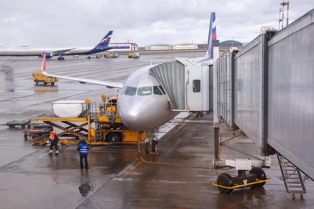 A manga está ancorada na aeronave