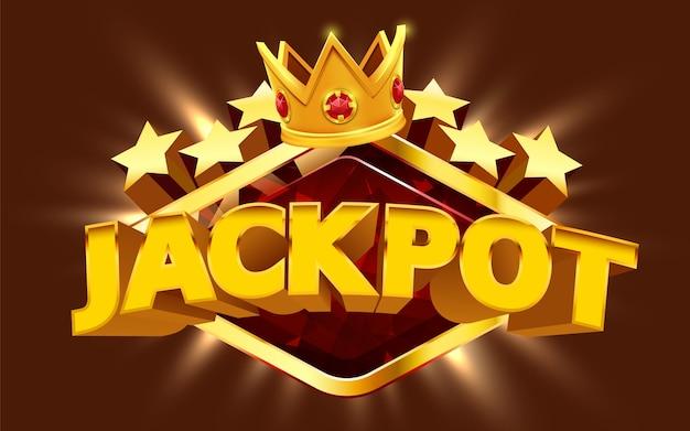 A máquina caça-níqueis ganha o jackpot conceito de grande vitória jackpot de cassino