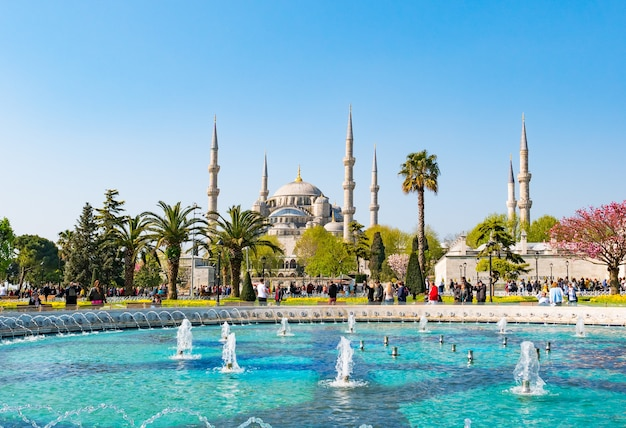 A mesquita azul, (sultanahmet camii), istambul, turquia