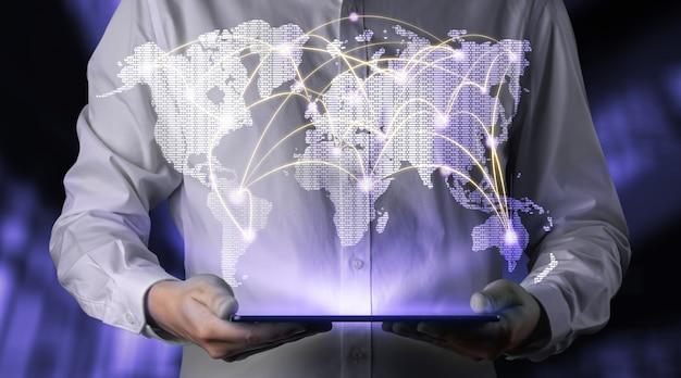 A moderna comunicação criativa e a rede da internet se conectam na cidade inteligente