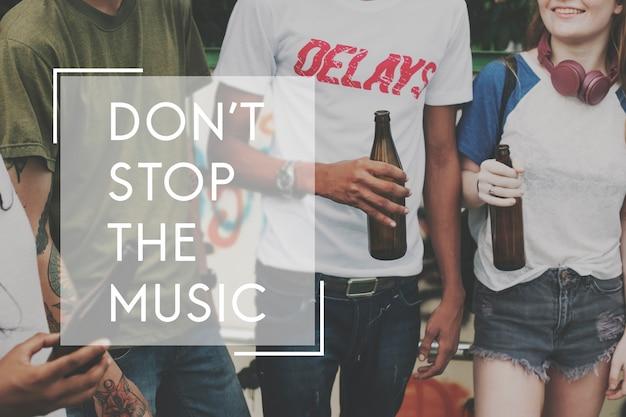 A música é a alma do ícone da vida