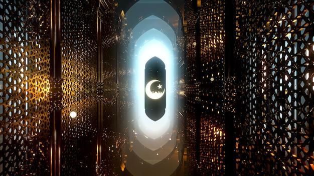 A noite do ramadã, plano de fundo para publicidade em padrão islâmico e cenário do ramadã