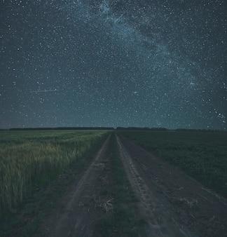 A noite estrelada no campo