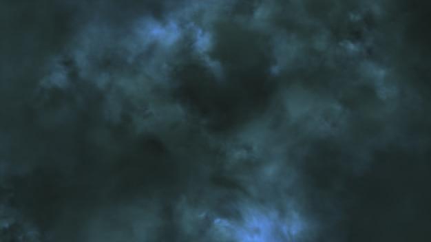 À noite, voando através de raios e trovões ilustração 3d