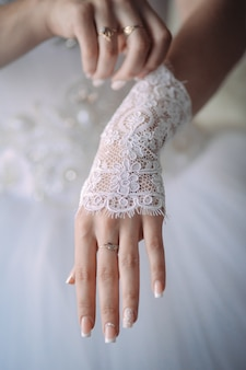 A noiva veste