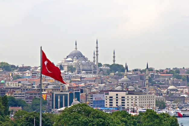 A paisagem urbana de istambul, turquia