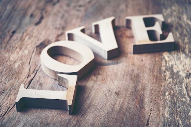 A palavra amor para o conceito de dia dos namorados