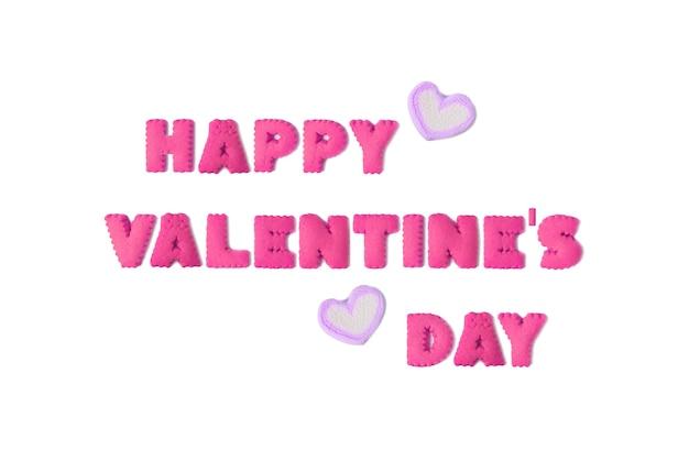A palavra feliz dia dos namorados escrita com biscoitos e marshmallows em forma de coração