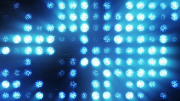 A parede de lâmpadas incandescentes laranja brilhantes acende ao longo do padrão