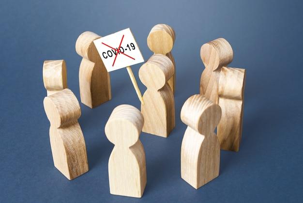 A pessoa se opõe a medidas de quarentena e exige a remoção de restrições