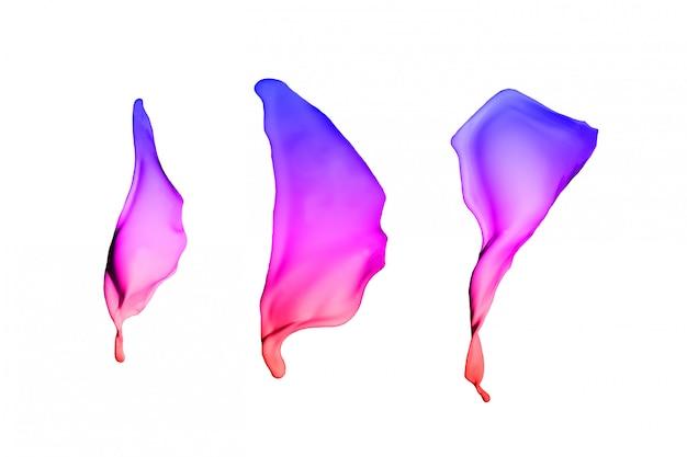 A pintura colorida espirra isolado no fundo branco.