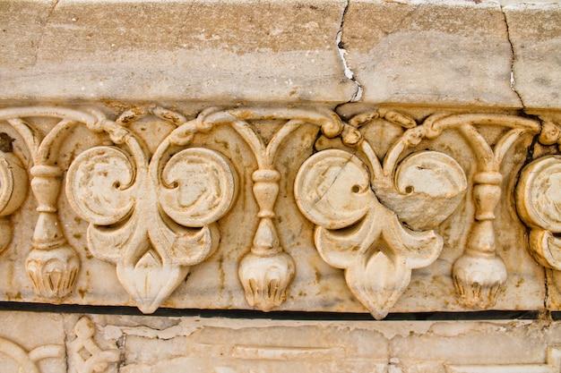 A placa de mármore, taj mahal, índia