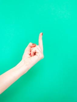 A porra da mão do dedo médio sig