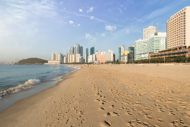 A praia de haeundae é a praia mais popular de busan