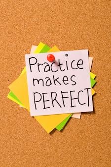 A prática leva à perfeição