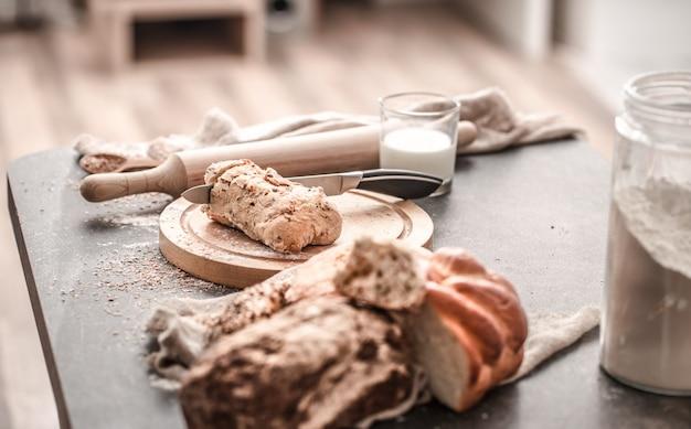 A preparação de pão