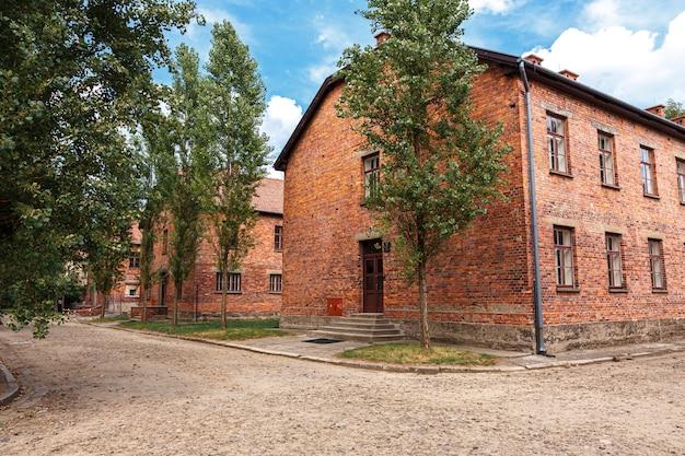 A prisão judaica de auschwitz oswiecim na polônia ocupada durante a segunda guerra mundial e o holocausto.