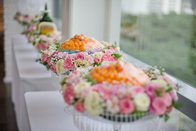 A procissão khan makk, cerimônia tradicional tailandesa, noivado