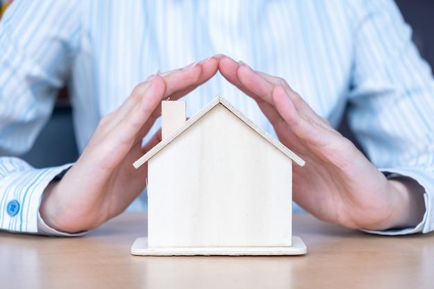 A proteção da casa do seguro protege conceitos