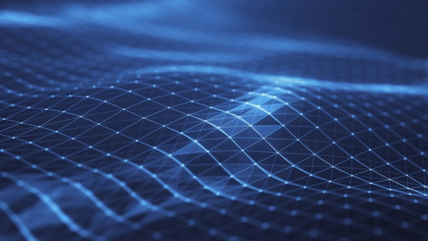 A rede abstrata do plexo intitula o fundo digital da tecnologia.