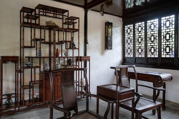A sala de leitura clássica em estilo chinês