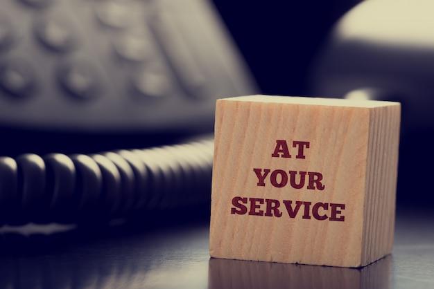 A seu serviço