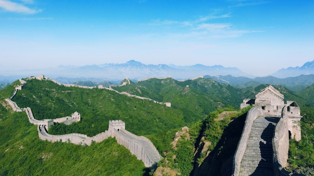 A sinuosa grande muralha da china