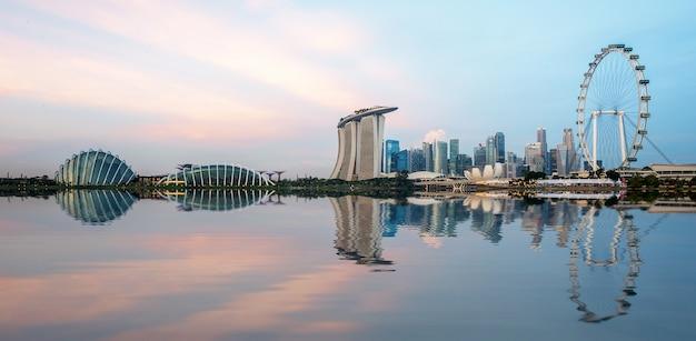 A, skyline, de, cidade cingapura