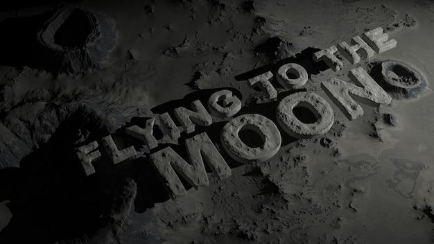 A superfície da lua com crateras com o texto