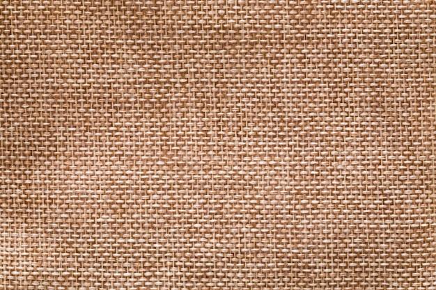A superfície do saco de cânhamo