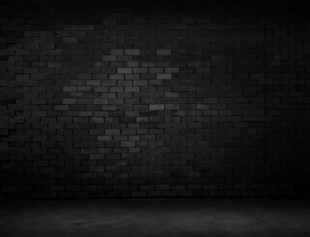 A superfície do tijolo escuro irregular