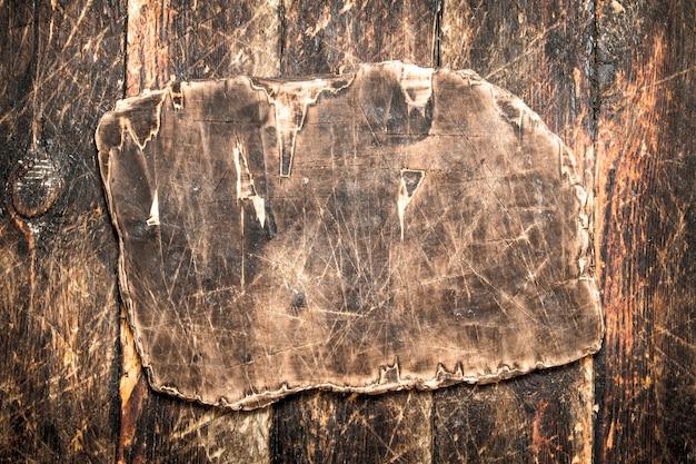 A tábua de madeira