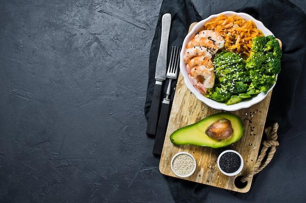 A taça de buda uma refeição equilibrada e saudável.