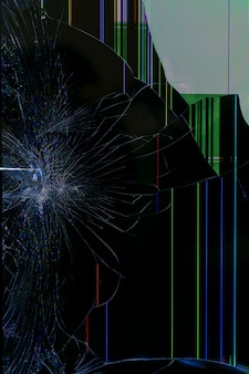 A tela do dispositivo está quebrada. fundo abstrato da tecnologia.