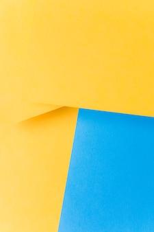 A tendência do cenário de estilo plano e minimalista