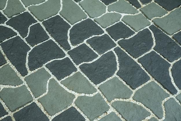 A textura da estrada.