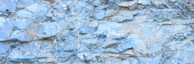 A textura da superfície das rochas de pedra natural cinza azul como pano de fundo. bandeira