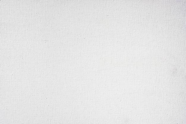 A textura da tela de cor branca para a imagem de design de plano de fundo