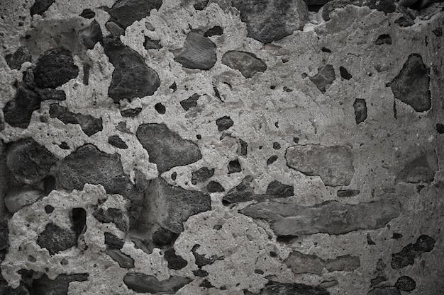 A textura de concreto e pedra