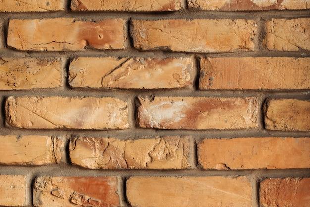 A textura de fundo parede de tijolo
